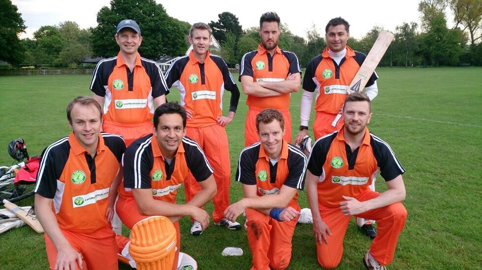 Last Man Stands Cricket Team Clothing in Orange