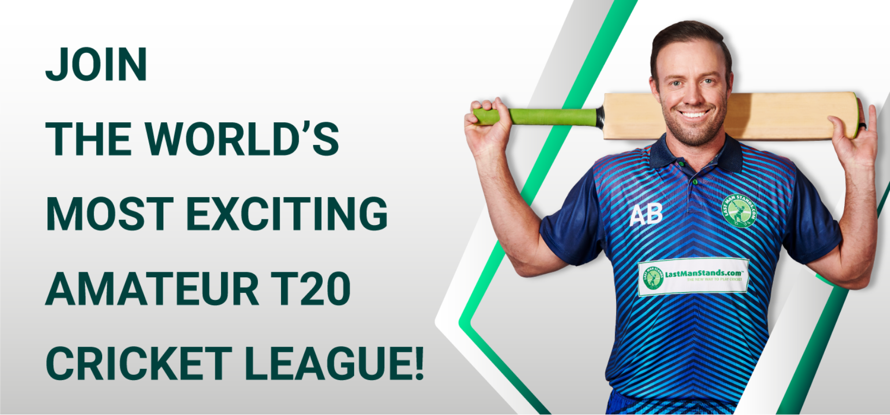 JOIN AB DE VILLIERS IN THE WORLD'S MOST EXCITING AMATEUR T20 CRICKET LEAGUE!